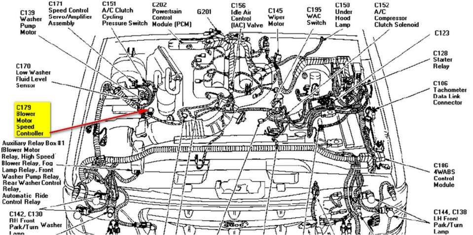 1996 Ford Explorer Engine Wiring Diagram And Explorer Engine Diagram Wiring Diagram Ford Explorer Ford Sistema Electrico