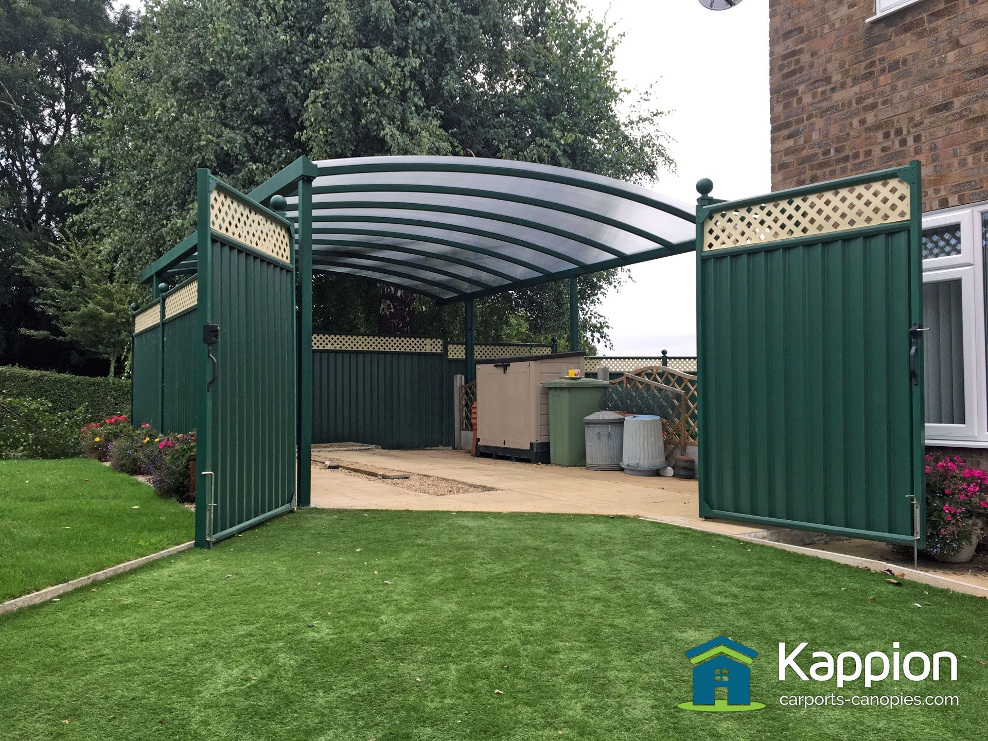 Contemporary caravan carport canopy designed to blend in