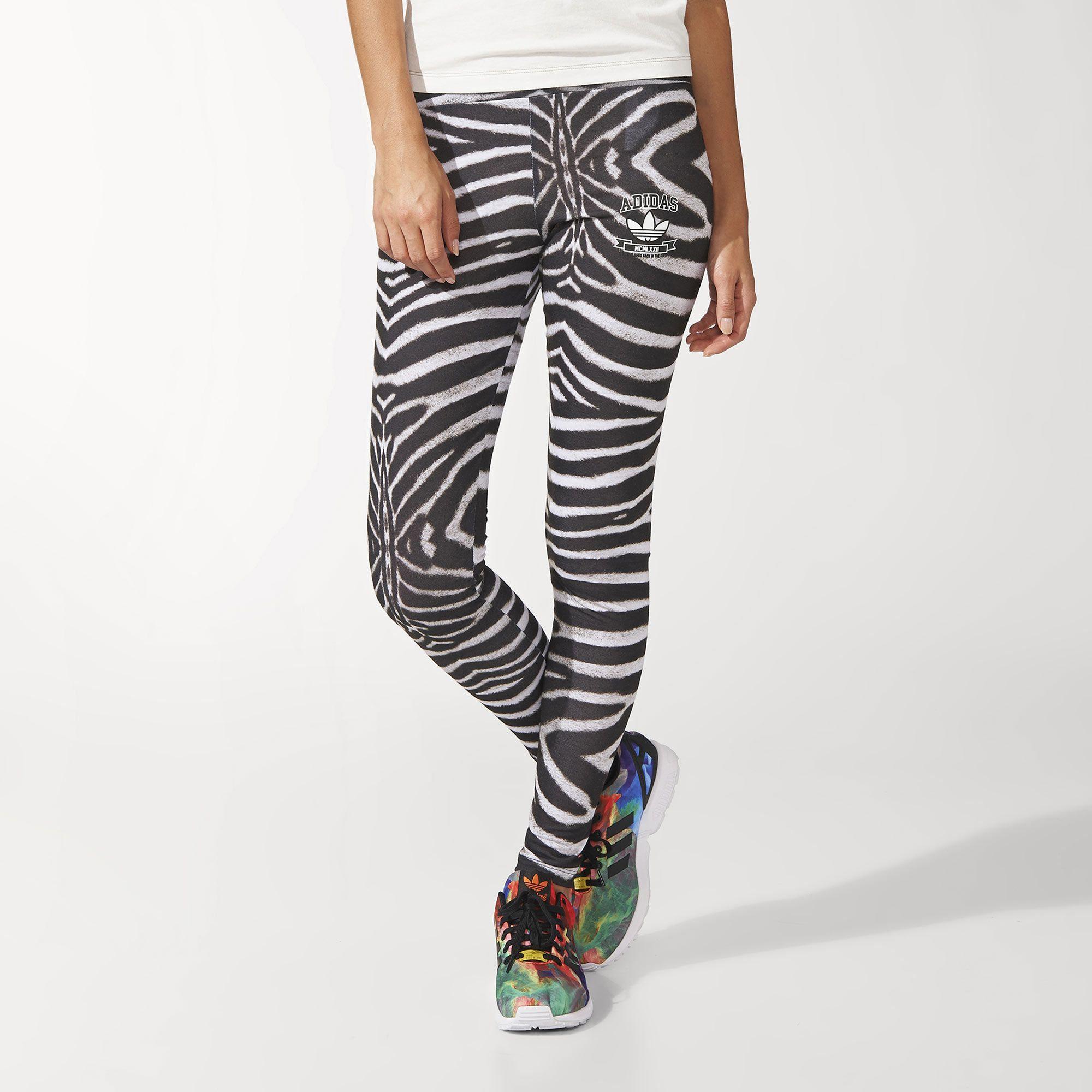 Adidas Uk Zebra Zebras Obsesión Leggings Mi AqUprwvxAH