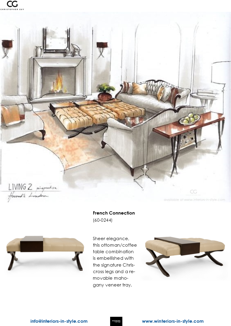 Fantastic 60 0245 French Connection Sheer Elegance This Ottoman Caraccident5 Cool Chair Designs And Ideas Caraccident5Info