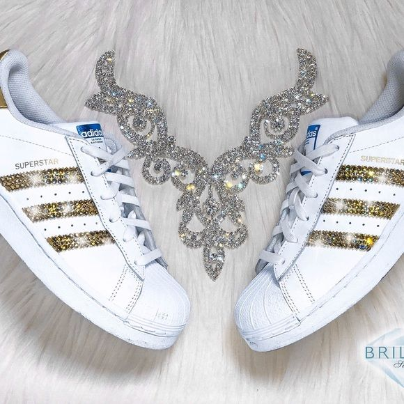 Authentic Adidas Superstar Shoes In White/Gold Metallic ...