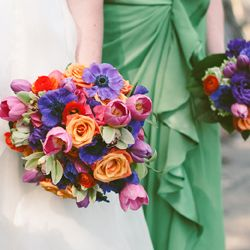 Don't miss three fabulous wedding flower theme ideas for your spring or summer nuptials. Image courtesy of Erin Smagala Photography.