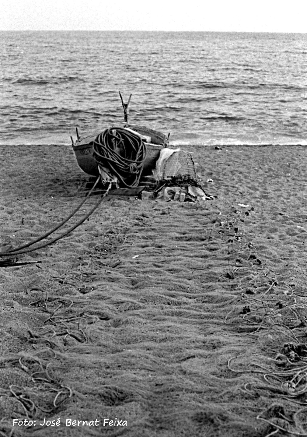 Visnetten en vissersboot