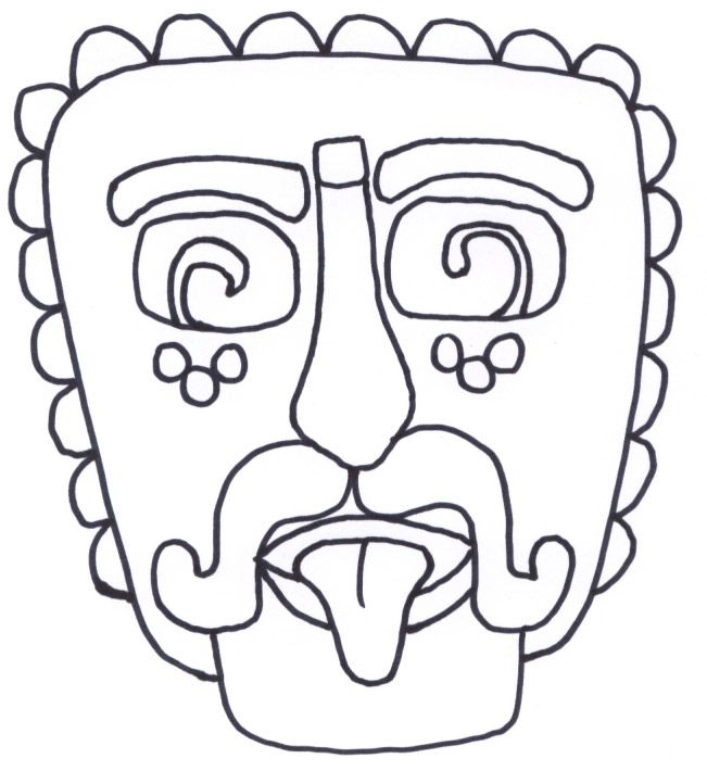 Mayan art template Geography