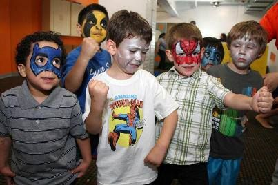 It S Super Hero Time Boys Love Nothing More Than Being A Super Hero For A Day So What S Better Than Superhero Party Birthday Party Places Superhero Birthday