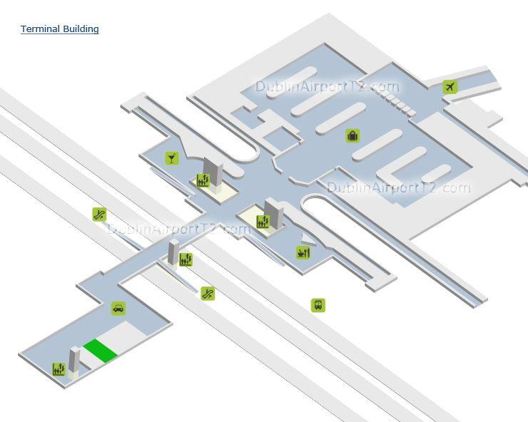 Dublin Airport Terminal 2 Map Dublin Airport T2 Guide