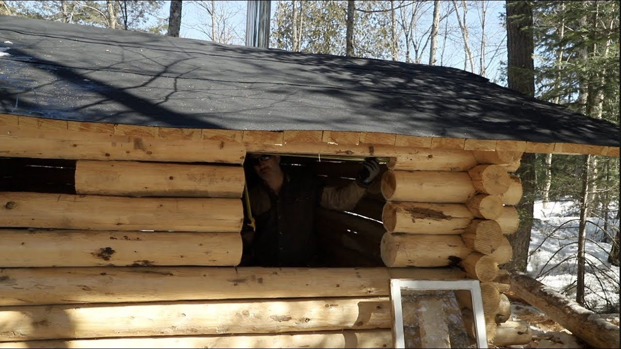 Building a Cedar Sauna in the Forest using hand tools, Ep