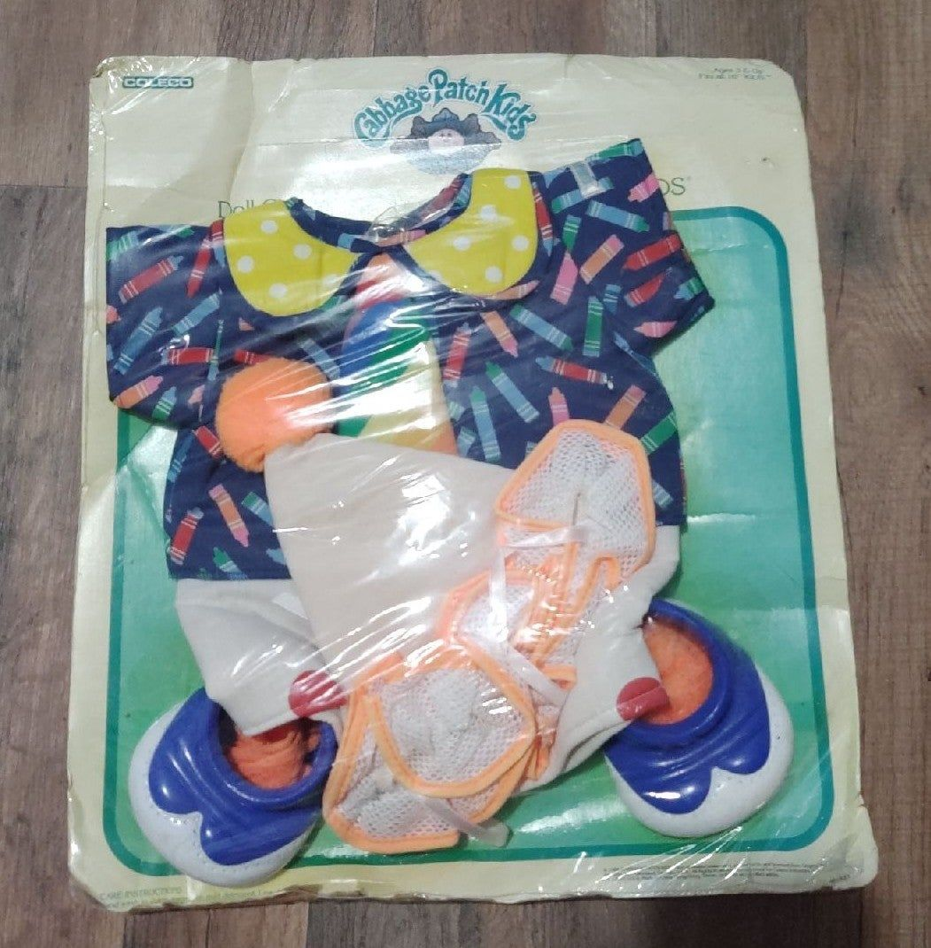 Vintage Coleco Cabbage Patch Kids Original Clown Outfit This Was Called Circus Kids Doll Clothes For Yo Cabbage Patch Kids Dolls Cabbage Patch Kids Patch Kids