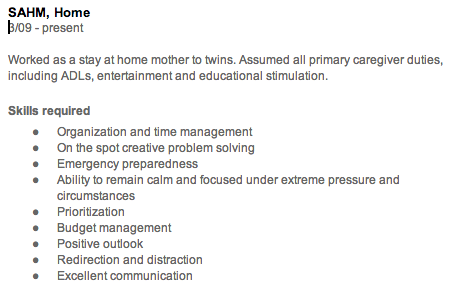 The Gap In My Resume From Being A Stay At Home Mom My Resume Work From Home Moms Resume Tips