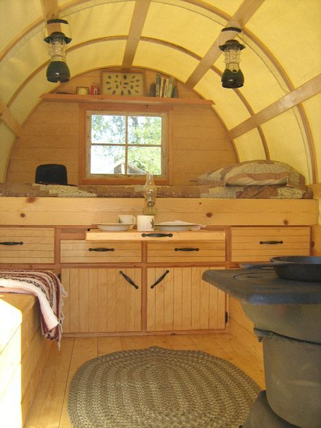 Sheep Wagons Converted Into Mobile Living Spaces Of Rustic Charm Mobile Living Living Spaces Caravan Interior
