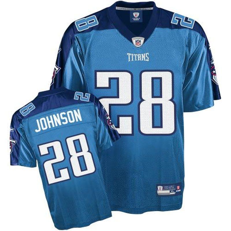 c603f860 Reebok Tennessee Titans #28 Chris Johnson Youth Light Blue Alternate ...