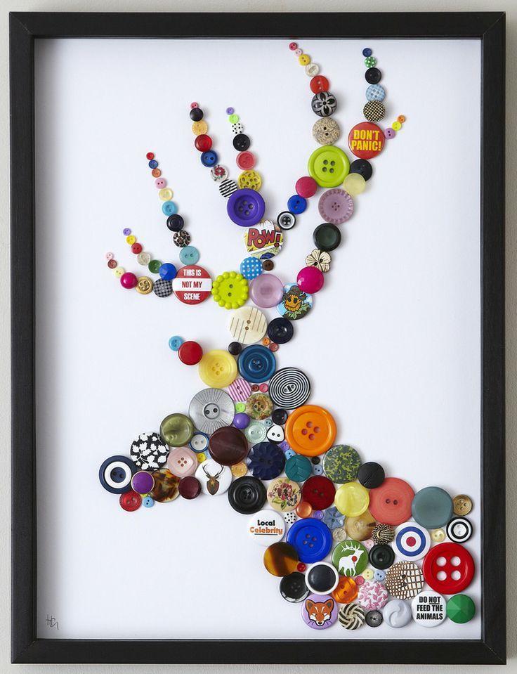 Pin de Doreen Michaels en Crafts | Pinterest | Botones, Reciclado y ...