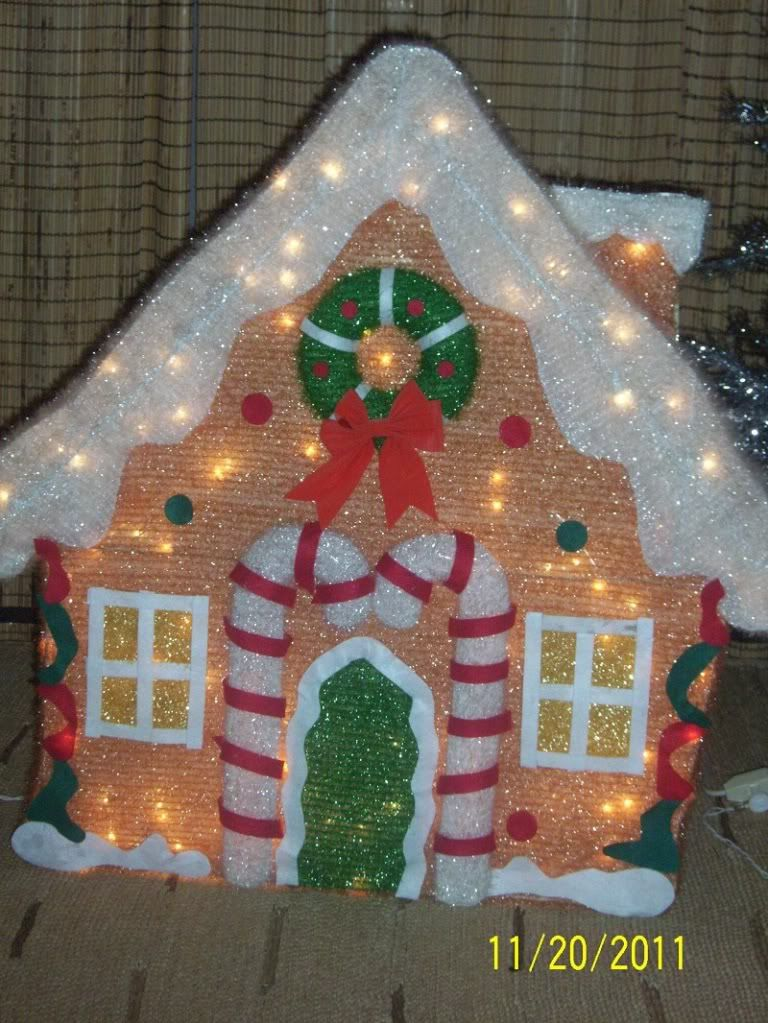 Attractive Outdoor 3 FT GINGERBREAD HOUSE BOY GIRL 3 PIECE SET Lighted Christmas Yard  Decor