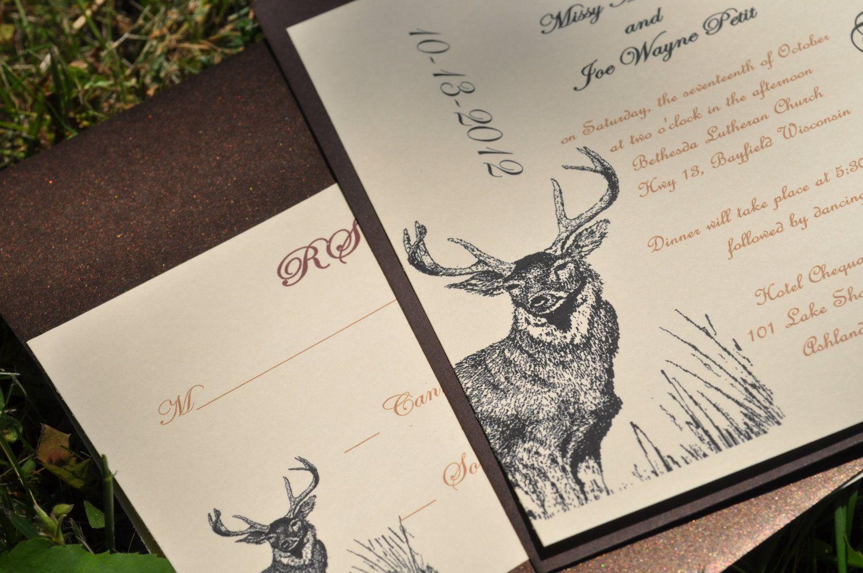 Hunting Wedding Invitations Deer Invitations Camo Wedding. $3.50 ...