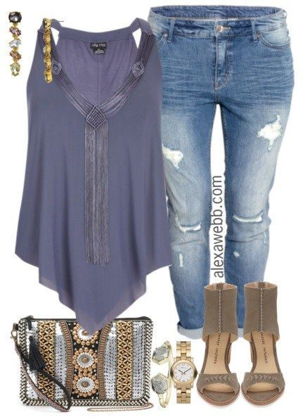 Weekend Inspiration - Plus Size Concert Outfit