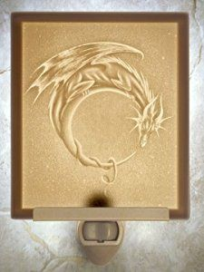 Dragon Moon Flat Porcelain Lithophane Nightlight - Night Lights - Amazon.com
