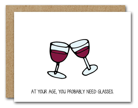 PRINTABLE Funny Birthday Card Wine Lover INSTANT DOWNLOAD Red Celebrate Bir