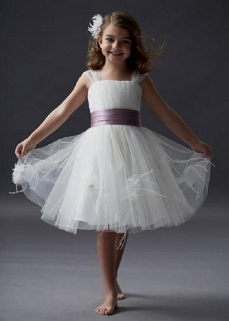 2e8dd25596bc You can share these white and lavender flower girl dresses on ...