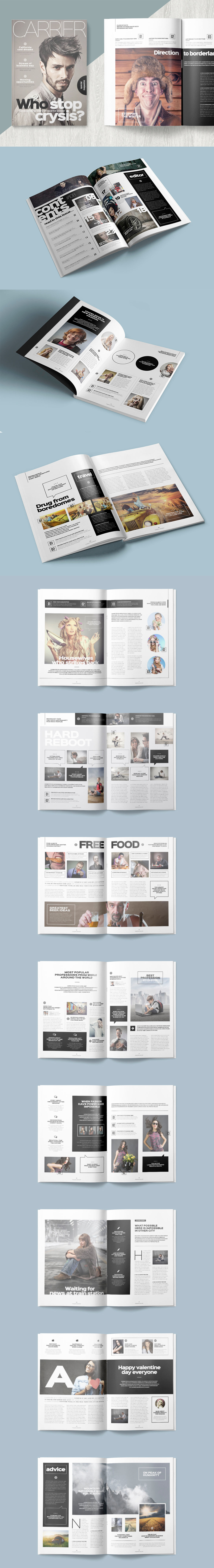 Professional and Clean Magazine Template InDesign INDD - 25 Pages ...