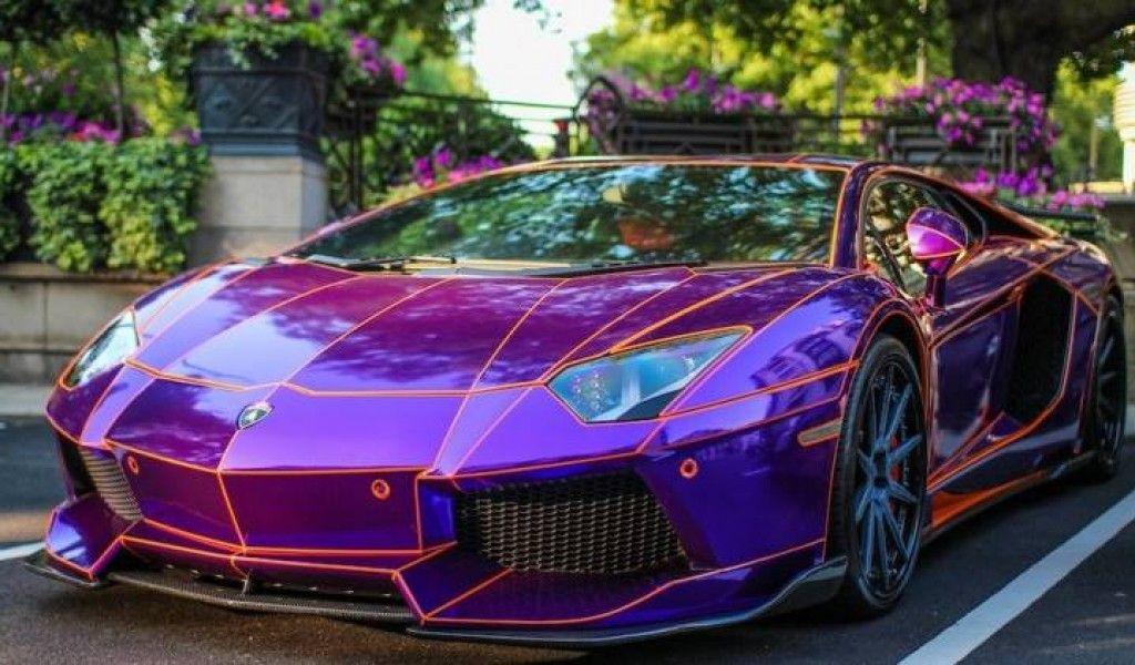 Lamborghini Aventador Dragon Edition Purple Lamborghini Car