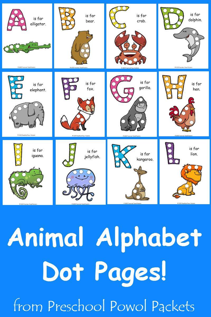 preschool powol packets: {free} letter u animal alphabet dots