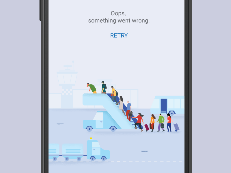 Flights error page by German Kopytkov for Google