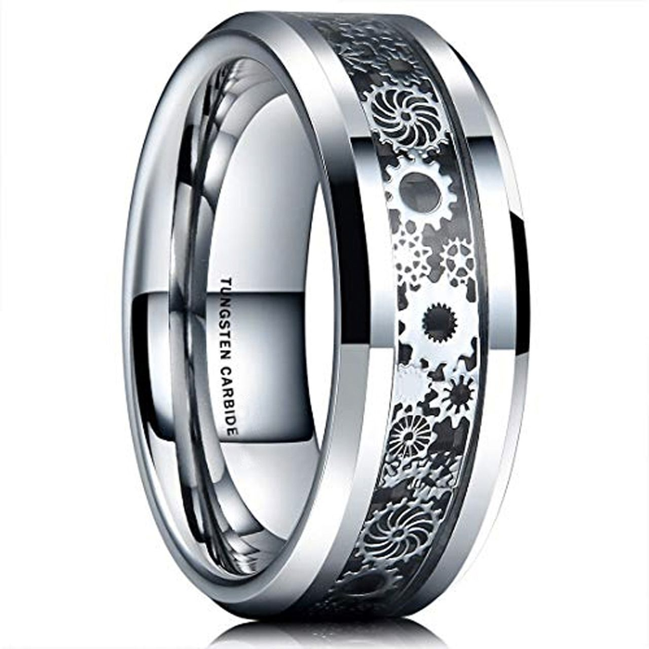 (8mm) Unisex or Men's Tungsten Carbide Wedding Ring Band