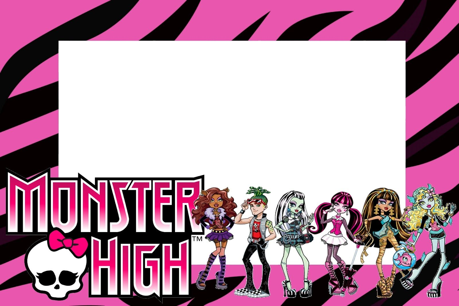 Monster High: Free Printable Party Invitations. | Labels & Tags ...