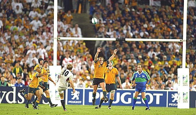 Jonny Makes England Rugby History 2003 With Images Rugby Union Australia Rugby Rugby