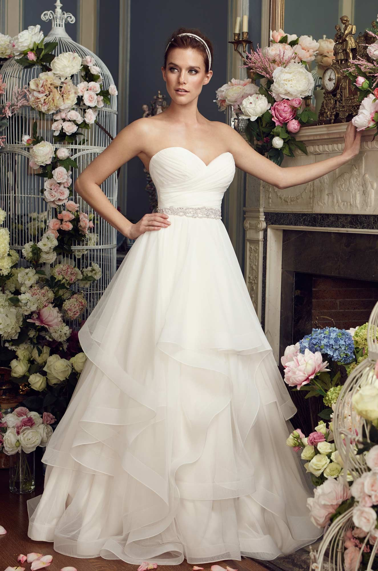 Whimsical Tiered Wedding Dress - Style  2164  7f69e6f9186