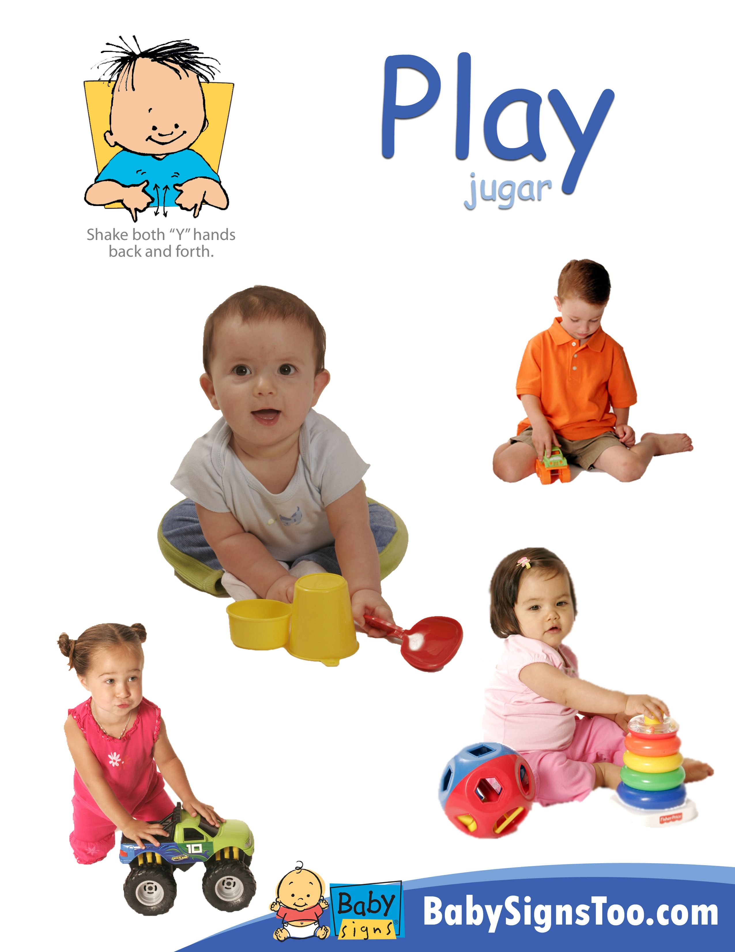 Free Printable Poster With The Sign For Play Babysigns Babysignlanguage Babysign