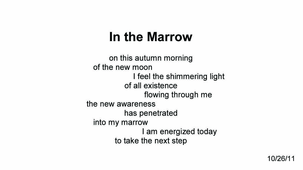In the Marrow ~ Quantum Meditation #2069