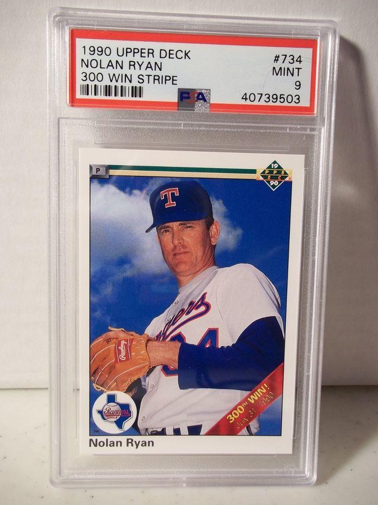 1990 Upper Deck Nolan Ryan PSA Mint 9 Baseball Card 734