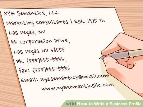 How to Write a Business Profile 10 Steps (with Pictures) #loan - how to write a profile