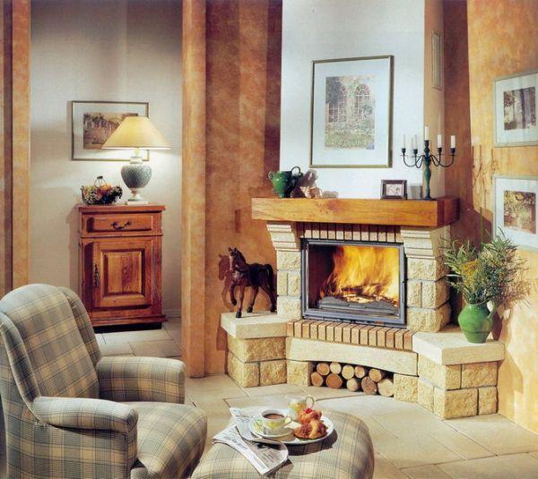 Интерьер гостиной с камином: осовремененные варианты