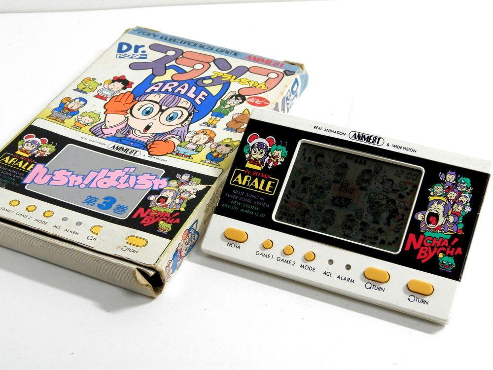80s Retro Popy/Bandai LCD Game Watch Dr. Slump Arale Ncha! Bycha! AR-03 Boxed_72 #PopyBandai