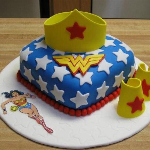 Wonder Woman Cake With Images Wonder Woman Cake Wonder Woman