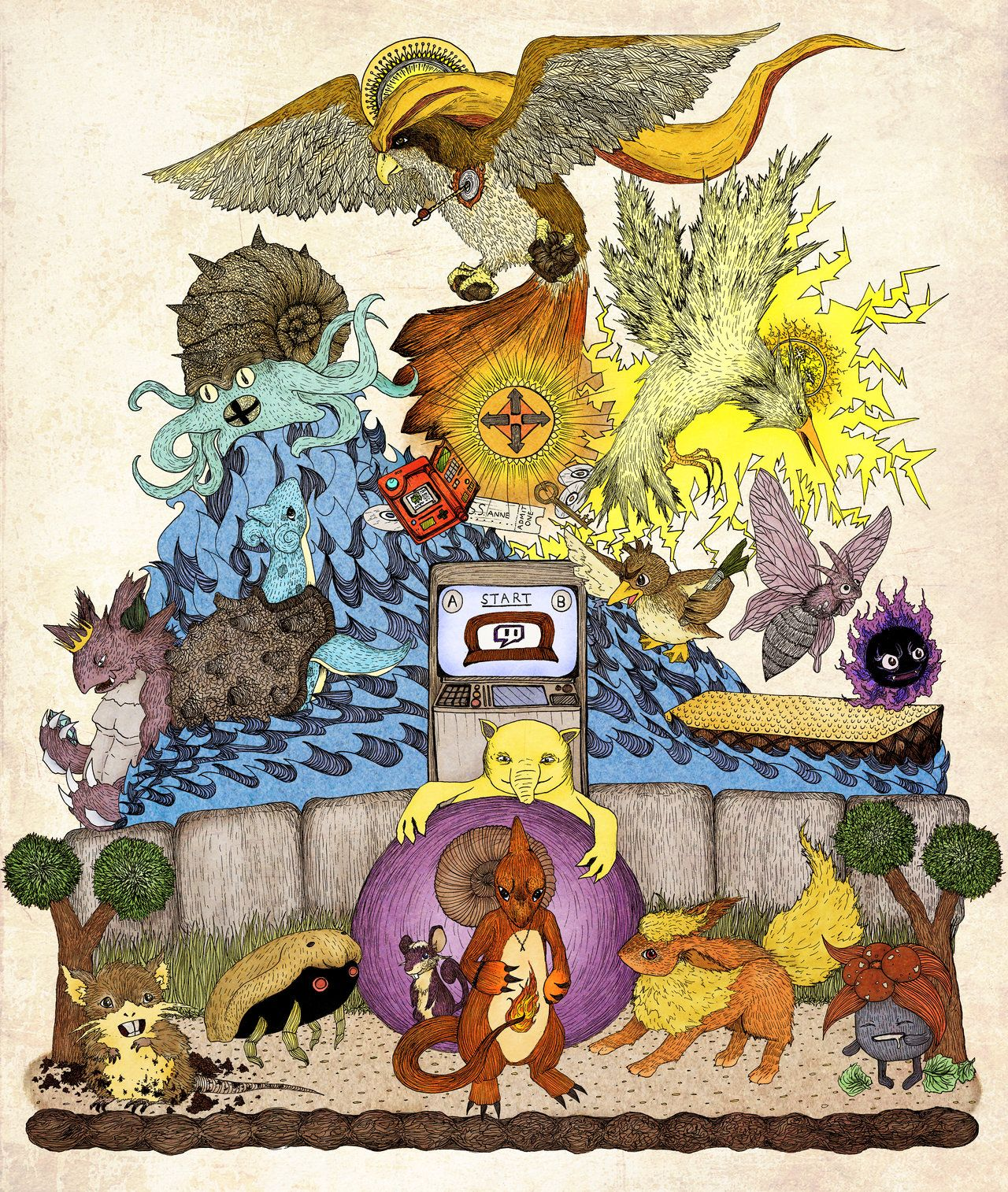 twitch plays pokemon red color by engraven praise helix