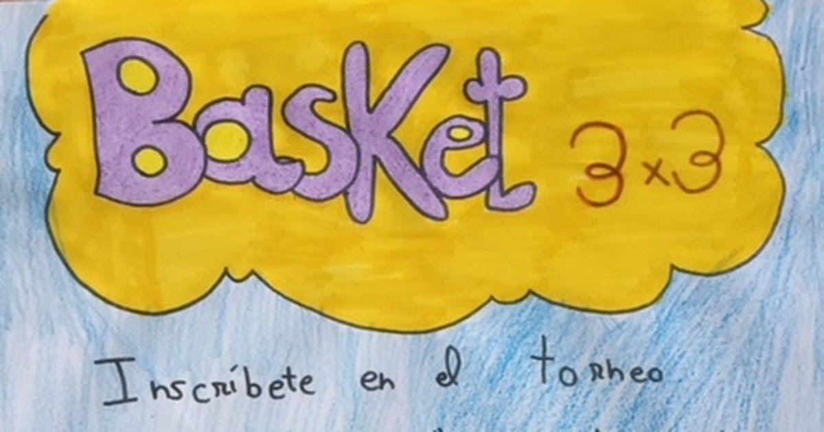 Cartel torneo deportivo Basket 3x3