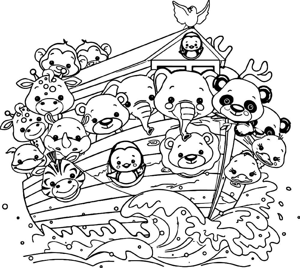 Noah's Ark Coloring Page | Animal coloring books, Turtle ...