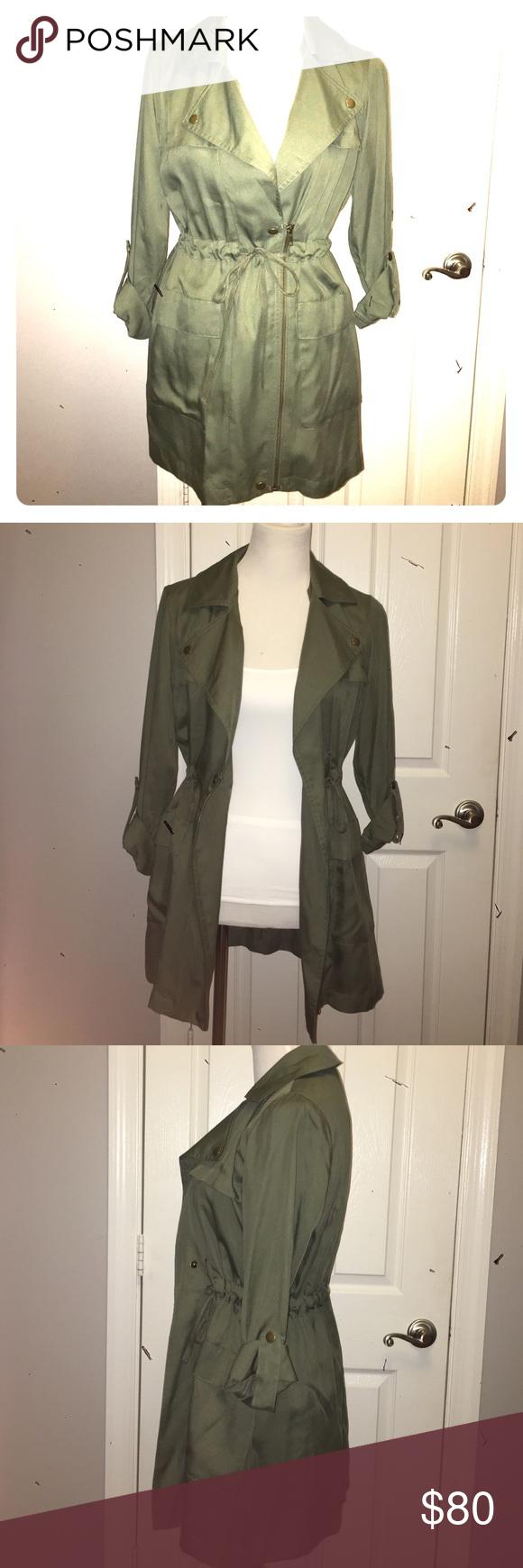 Loft Olive Green Drawstring jacket | Green jacket, Utility jacket ...