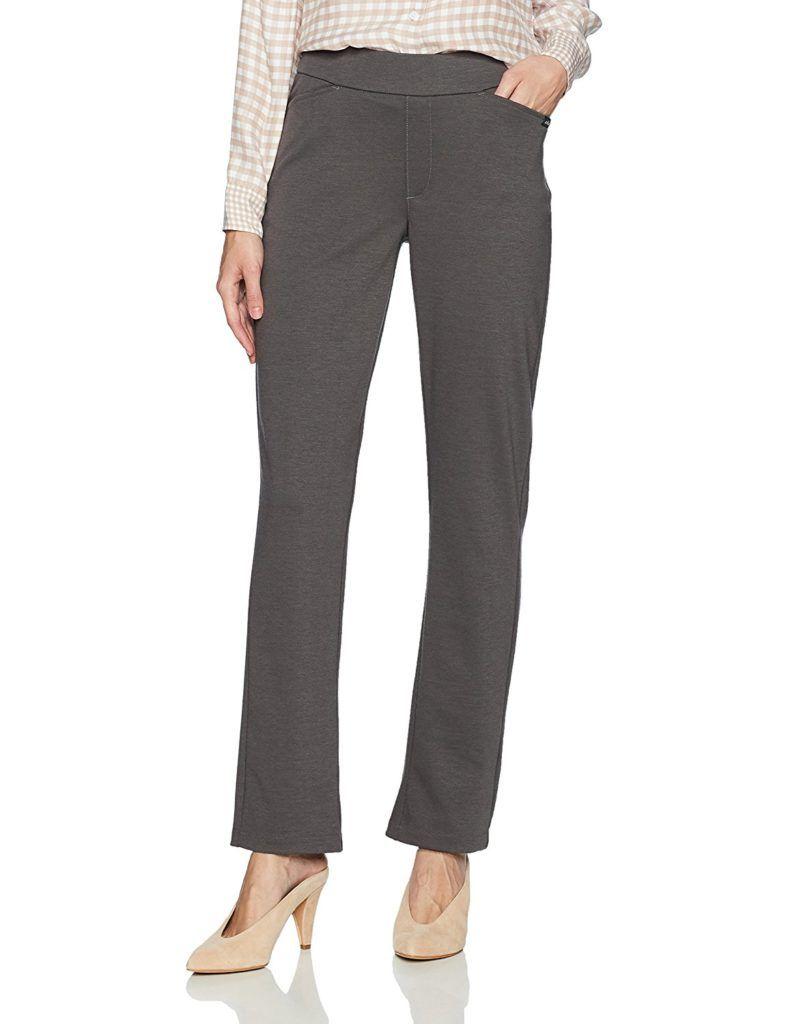9de534eb4cc Chic Classic Collection Women s Petite Knit Pull-On Pant