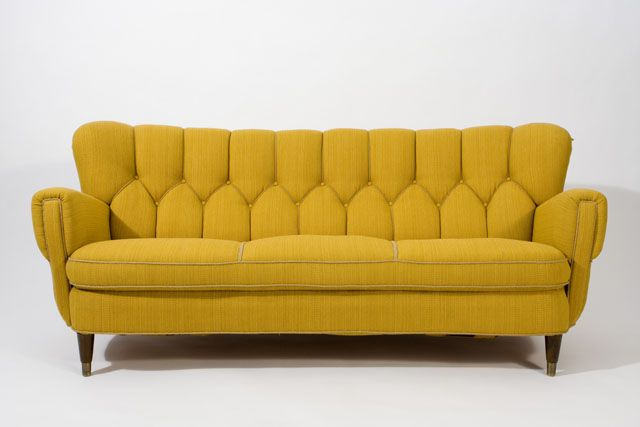 We Couldn T Resist This Glamorous Piece Hand Tied Springs And Original Upholstery 1930 S Danish Sofa