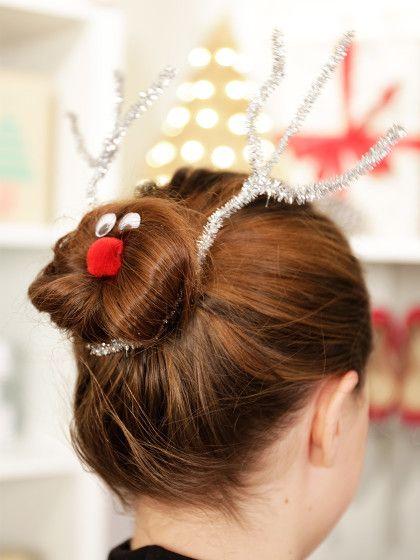 Schnell Und Einfach Die Schonsten Weihnachtsfrisuren Fur Die Festtage Weihnachtsfrisuren Frisuren Geflochtene Frisuren