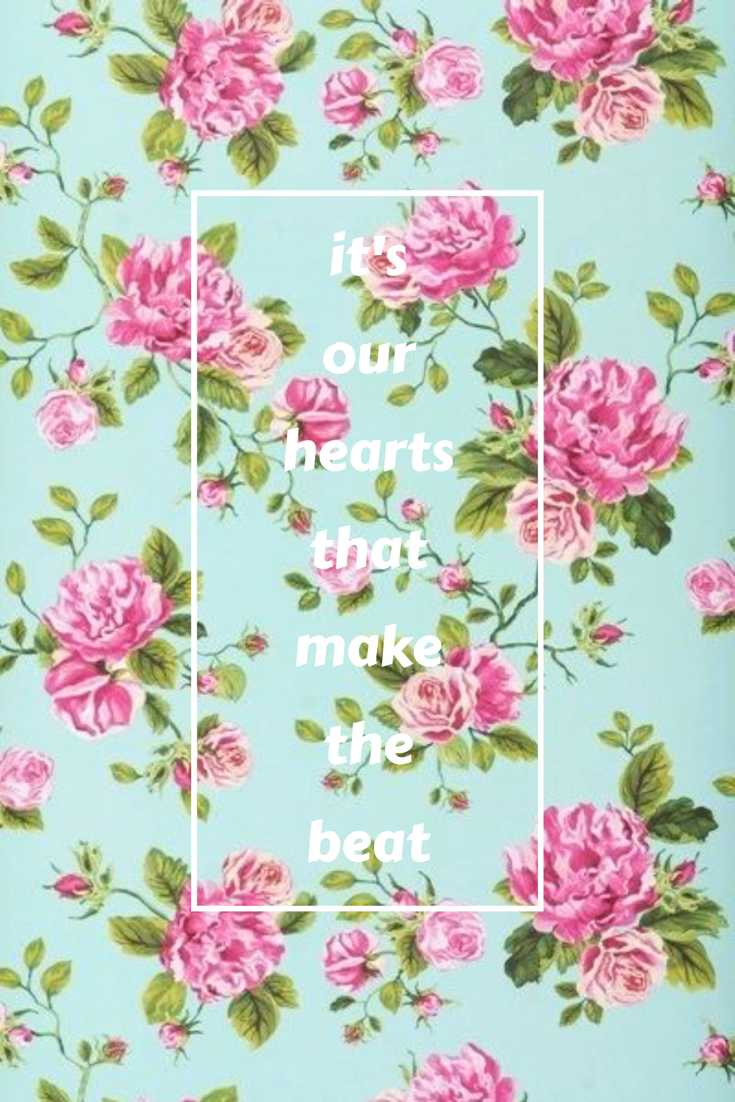 Holding Onto You Twenty One Pilots Vintage Floral Wallpapers
