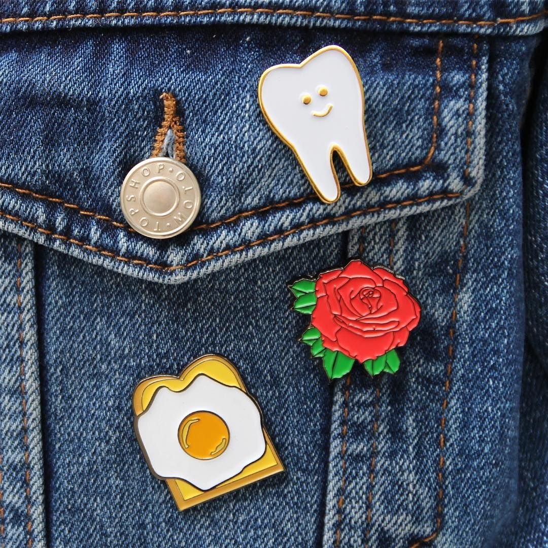Home & Garden Adaptable 1 Pcs Cartoon Colorful Animal Metal Badge Brooch Button Pins Denim Jacket Pin Jewelry Decoration Badge For Clothes Lapel Pins