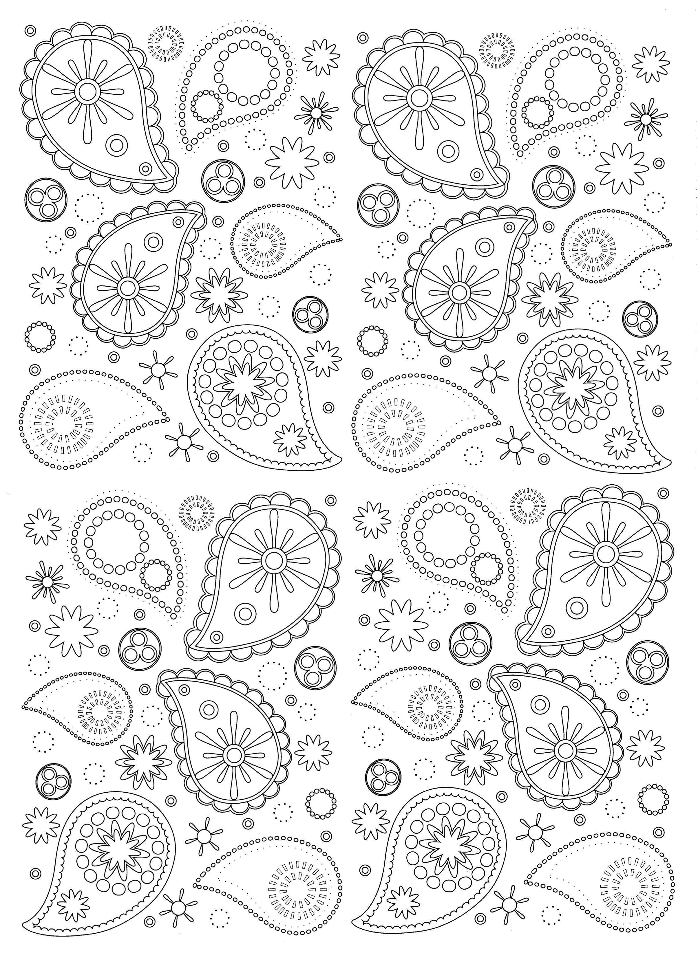 Free Coloring Page Paisley Beautiful And Harmonious Patterns To Print Color