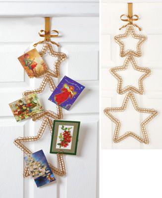 christmas star card holder door hanger holidays christmas