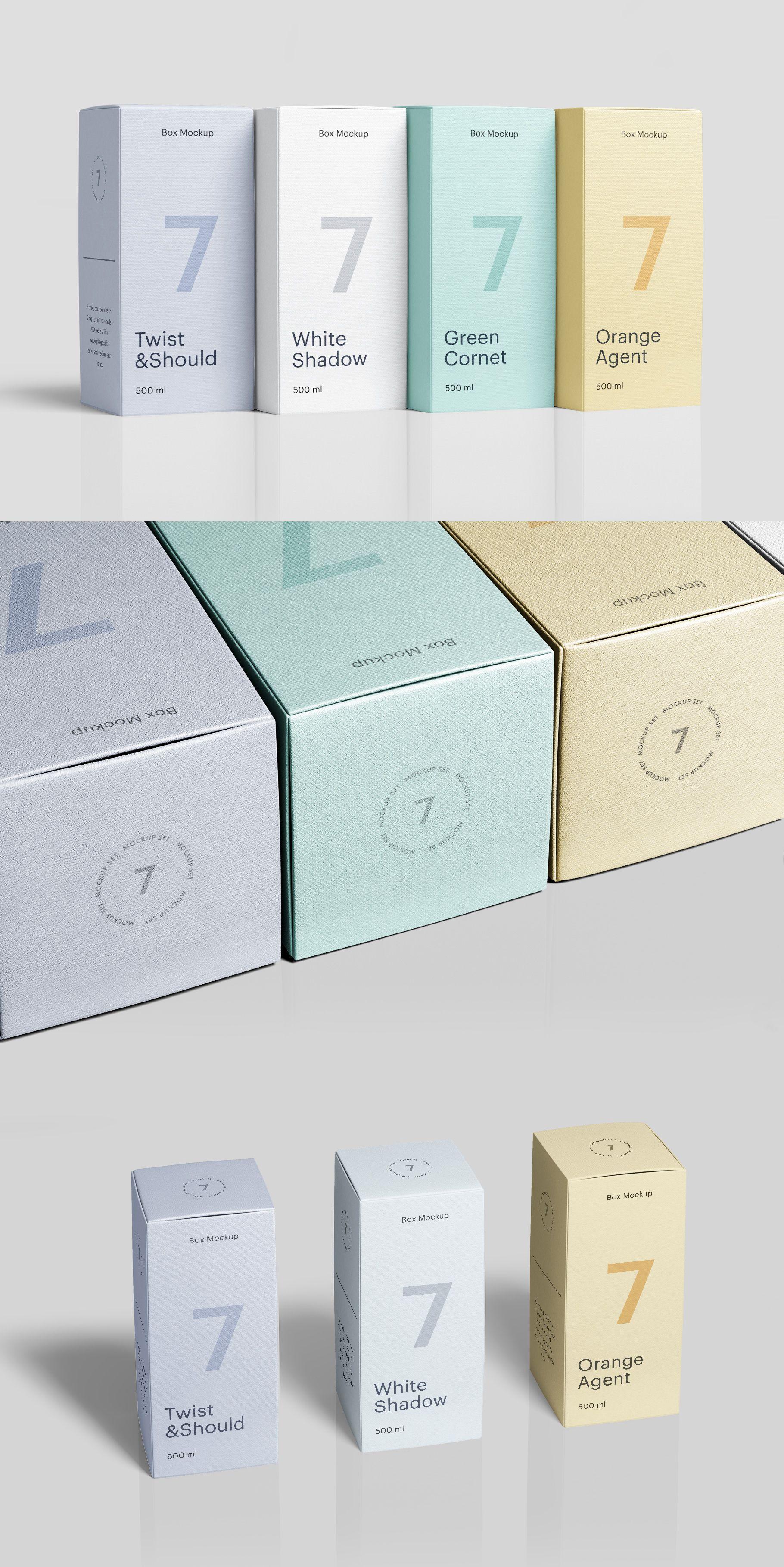 Download Box Mockup Vol 4 Includes 7 Pre Made Psd Scenes This Mockup Is Suitable For Small And Medium Items Like Cosmetics Perfume Box Mockup Perfume Box Bag Mockup