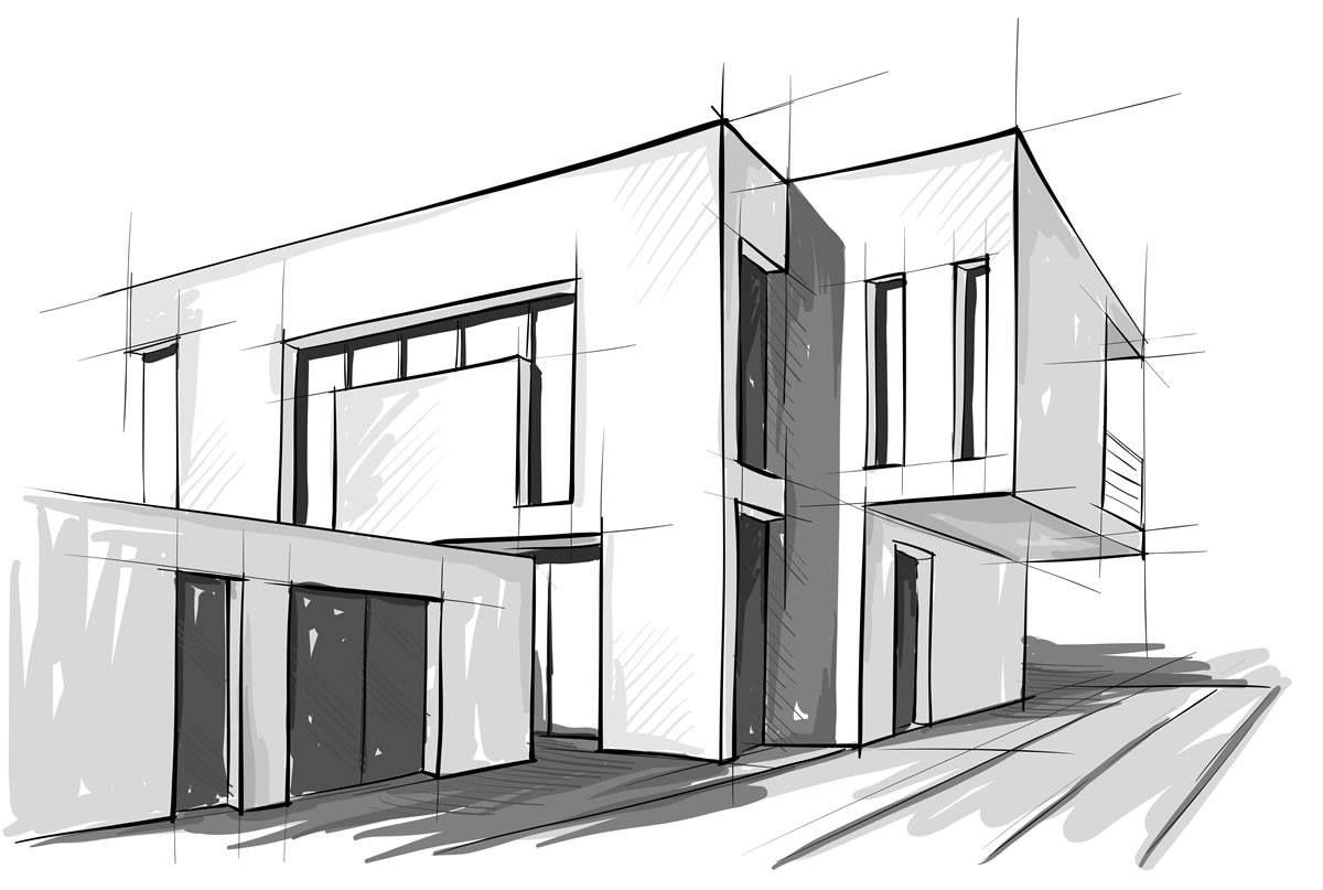 Pin by shadow office on villa sketch pinterest architektur skizze architektur zeichnungen - Architektur skizzen zeichnen ...